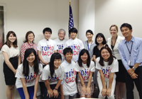 H-LAB Students on TOMODACHI Scholarship Visit the U.S. Embassy in Tokyo