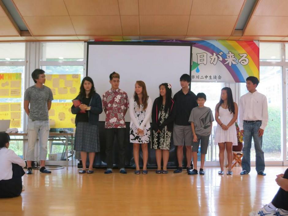 onagawa middle school presentation tomodachi
