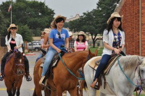 Heading out on the Fort Worth Trail Ride