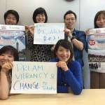 "Those who work hard on ""TOMODACHI Summer SoftBank Leadership Program"" from SoftBank Group Corp."