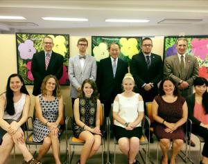 Students meet Ambassador Fujisaki